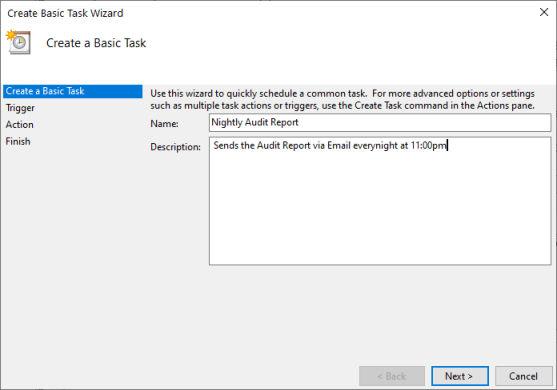 Windows Task Scheduler Page 1