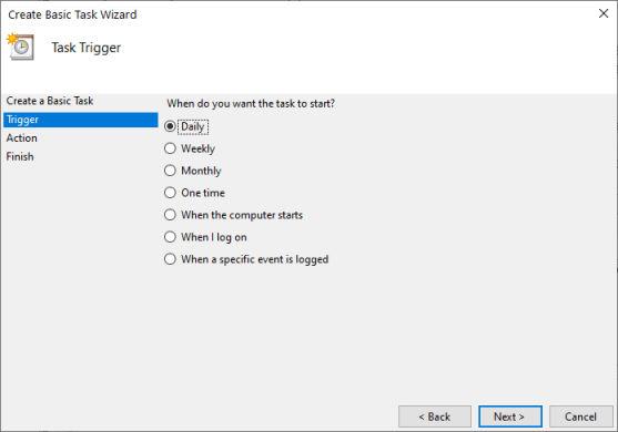 Windows Task Scheduler Page 2