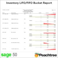 Sage 50 LIFO FIFO Inventory Bucket Report