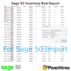 Sage 50 Inventory Evaluation Export