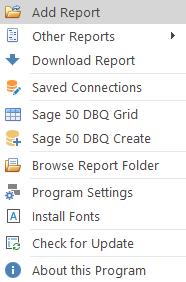 DSStudio Viewer Add Report Menu Item