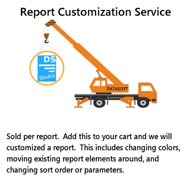 DSStudio Report Customization Service