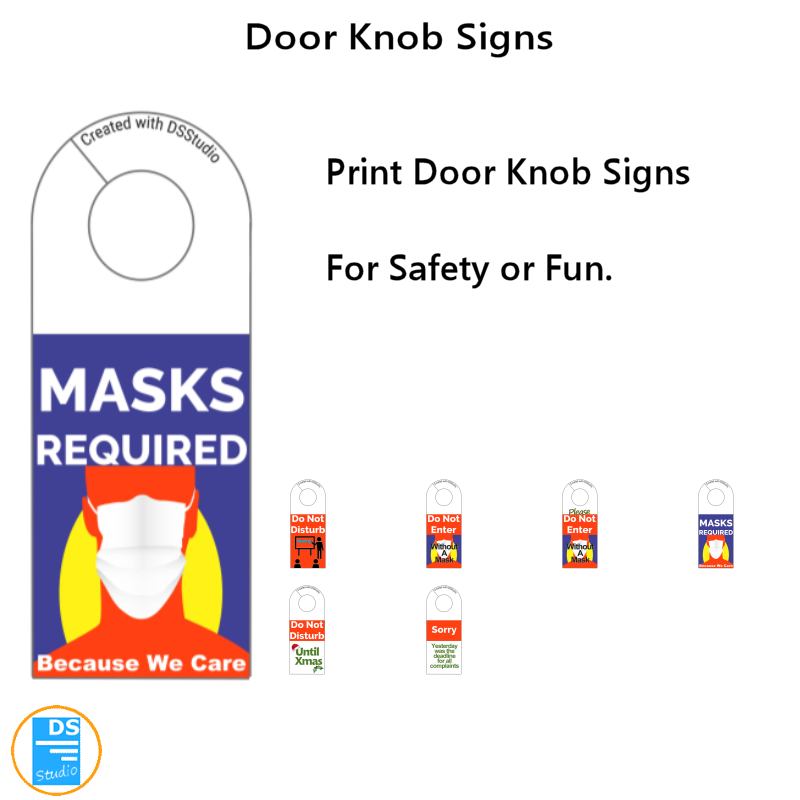 Doorknob Signs Volume 1