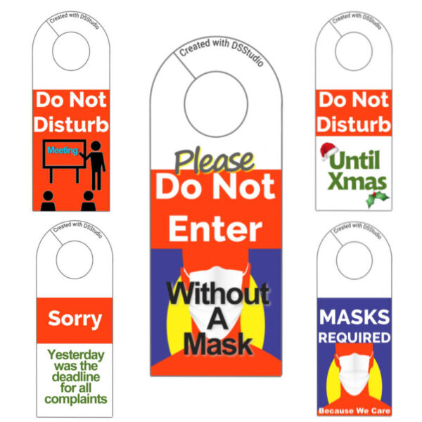 DSStudio Doorknob Signs Volume 1