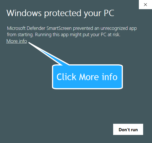 Windows Protected you PC Screen