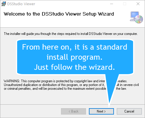 DSStudio Viewer Install Wizard