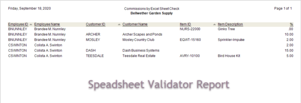 Sage 50 Sales Commission Report With Excel Validate Report