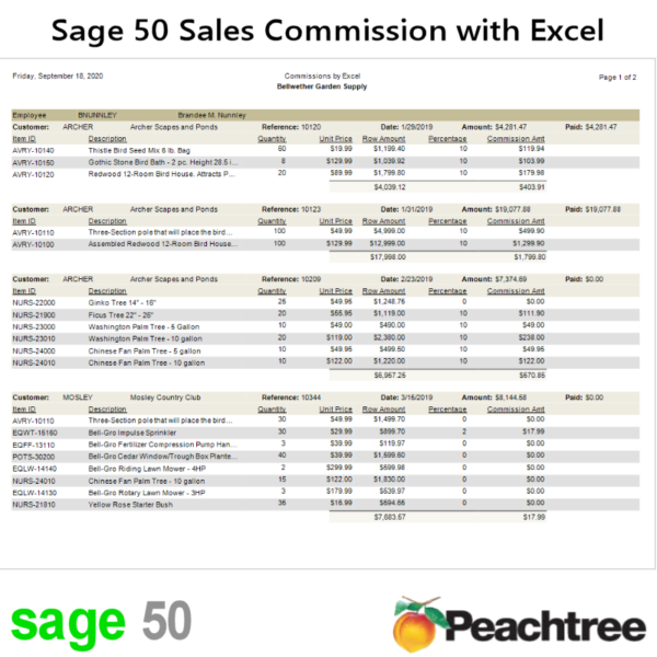 Sage 50 Sales Commission Report With Excel Rules