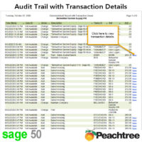 Sage 50 Audit Trail with Transaction Details Report