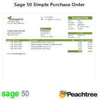 Sage 50 Simple Purchase Order